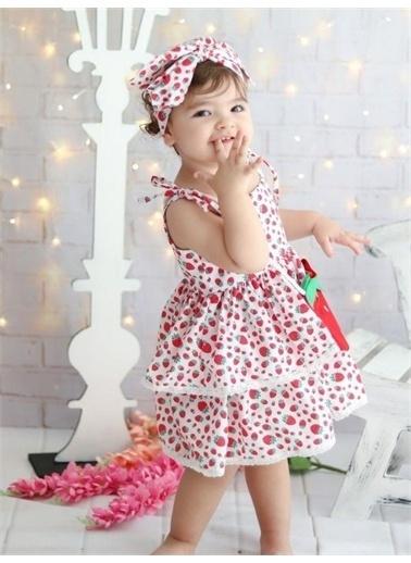 Riccotarz Kız Çocuk Strawberry Girl Elbise Renkli